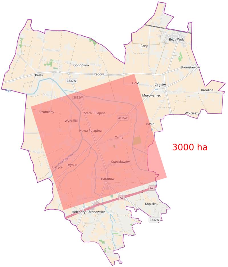 Mieszkańcy gminy Baranów w referendum opowiedzieli się przeciwko budowie w ich okolicy Centralnego Portu Komunikacyjnego