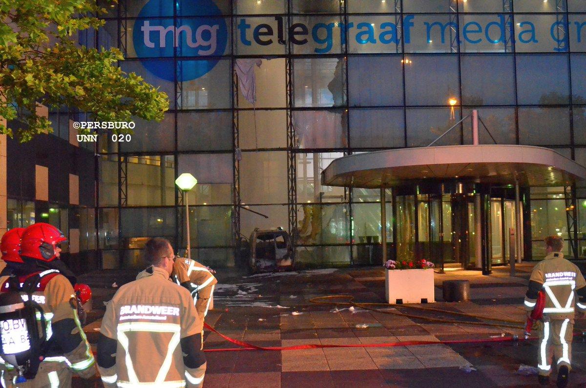 Holandia: furgonetka wjechała w gmach redakcji Telegraaf
