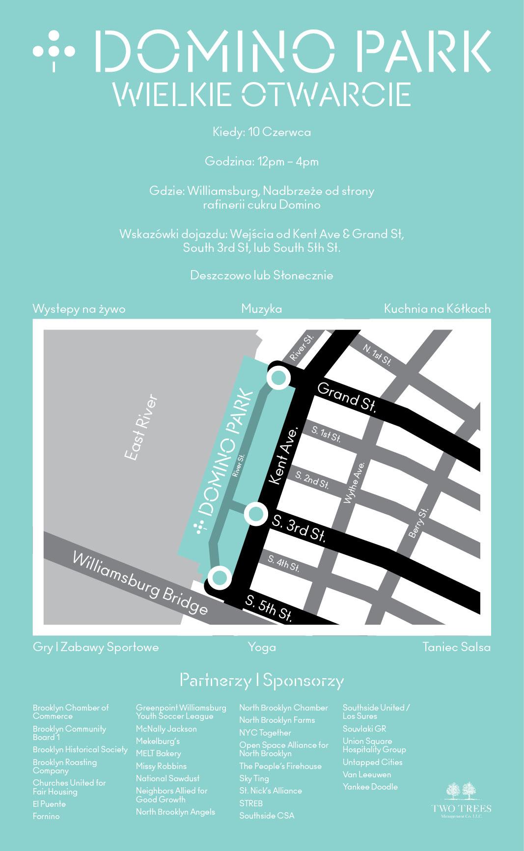 Wielkie Otwarcie Domino Park, Williamsburg, 10 czerwca!