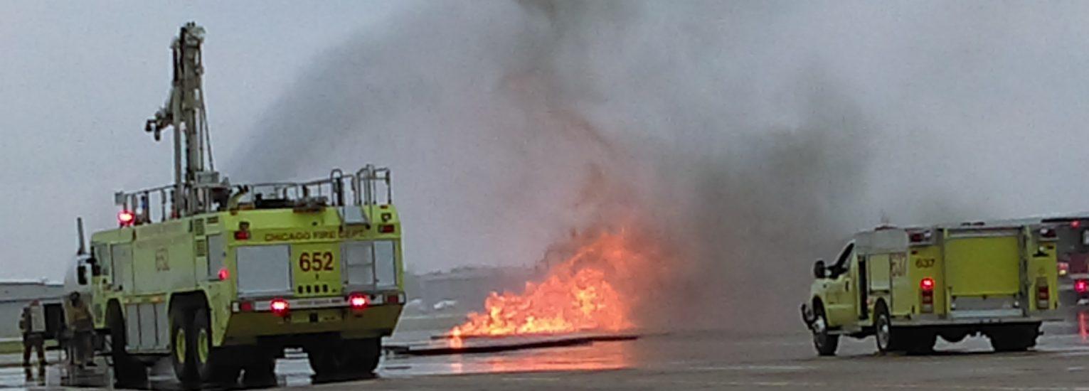 Akcja ratunkowa na międzynarodowym lotnisku Midway