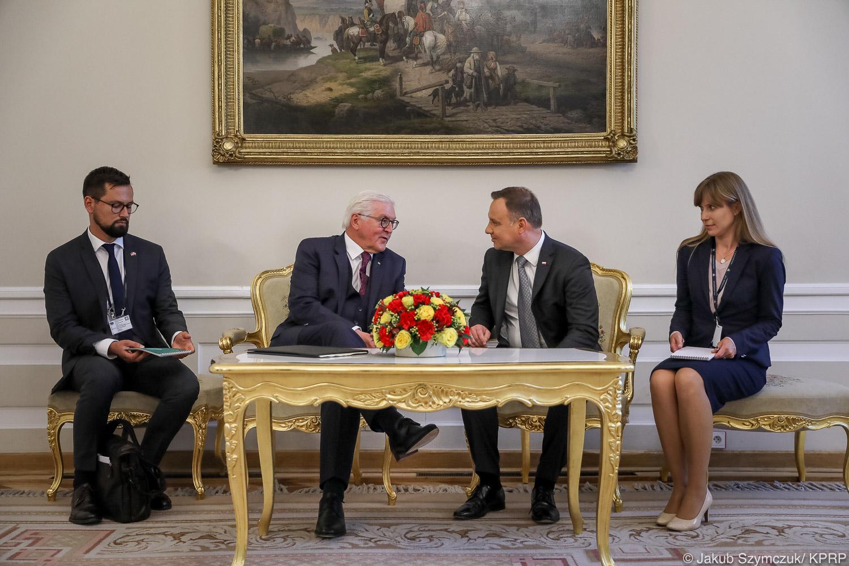 Andrzej Duda po spotkaniu z prezydentem Niemiec: Wyjaśniłem skąd nasz sprzeciw wobec gazociągu Nordstream 2