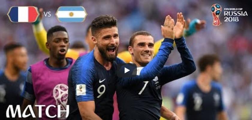 """MŚ 2018. Francja – Argentyna 4:3. Szał radości kibiców """"Trójkolorowych"""" po efektownej wygranej z Argentyną [SKRÓT MECZU WIDEO]"""