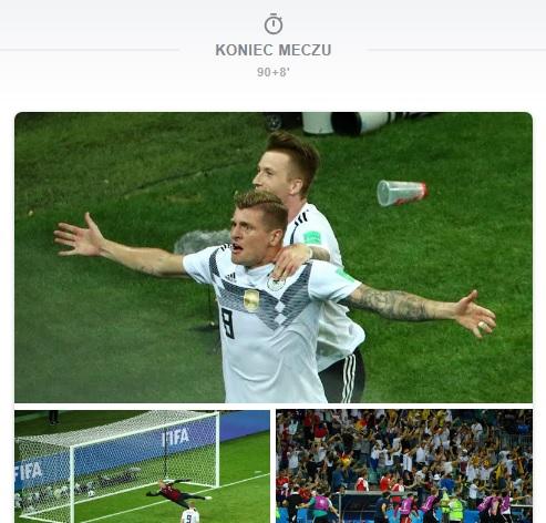 Niemcy pokonali Szwecję 2:1. Gol w ostatniej sekundzie uratował podopiecznych Joachima Löwa