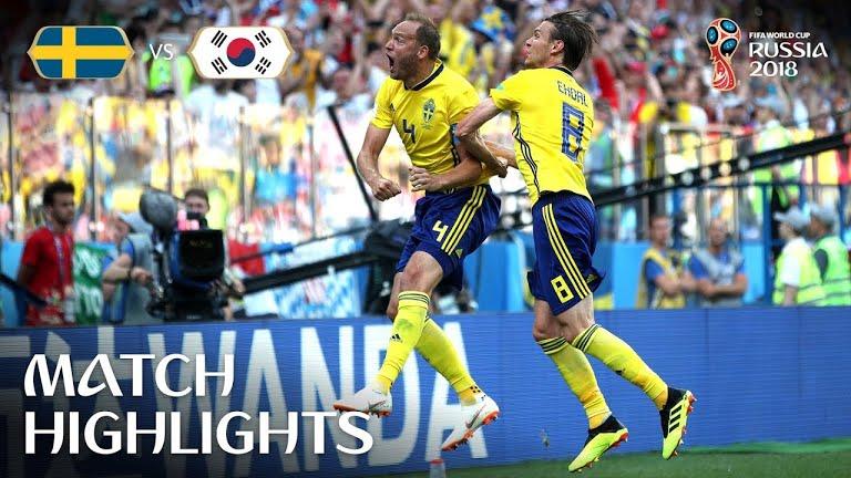 MŚ – Szwecja pokonała Koreę Pd., Belgia wygrała z Panamą, Anglicy nie bez trudu wygrali z Tunezją [wideo]
