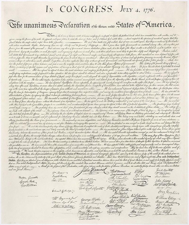 """Geneza Święta Niepodległości: """"Wszyscy ludzie są równi: mają prawo do życia, do wolności i do szczęścia"""""""
