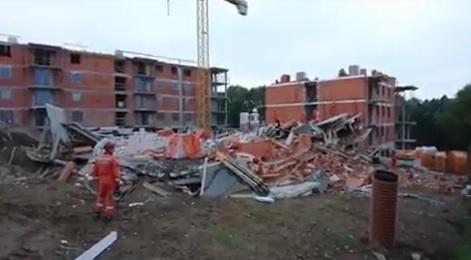 Bielsko-Biała: Zawalił się budynek mieszkalny [FILM]