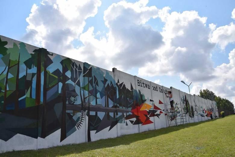 W Zamościu powstaje gigantyczny mural. Ma przypominać o bohaterach