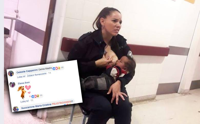 """Policjantka nakarmiła niedożywione dziecko piersią. """"Wielki gest miłości"""" Celeste Ayali"""