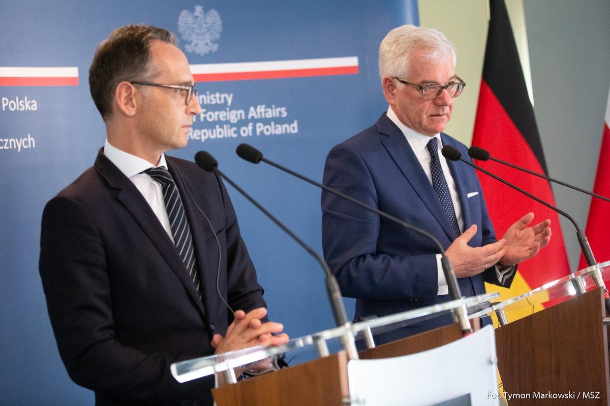 Szefowie MSZ Polski i Niemiec spotkali się w Harmężach. O czym rozmawiali?