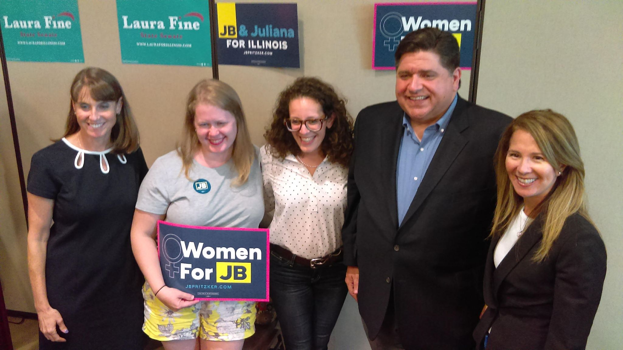 JB Pritzker spotkał sie w z wyborcami w Glenview
