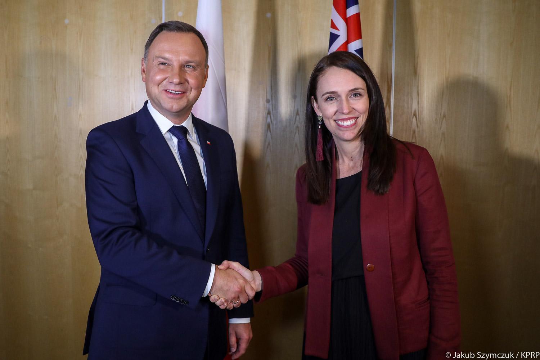 Nowa Zelandia i Polska chcą zwiększyć współpracę gospodarczą. Rozmowa nowozelandzkiej premier i polskiego prezydenta