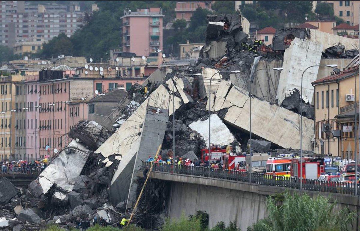 Rocznica zawalenia się wiaduktu w Genui