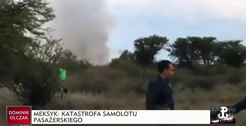 Meksyk: Samolot ze 101 osobami na pokładzie runął na ziemię po starcie