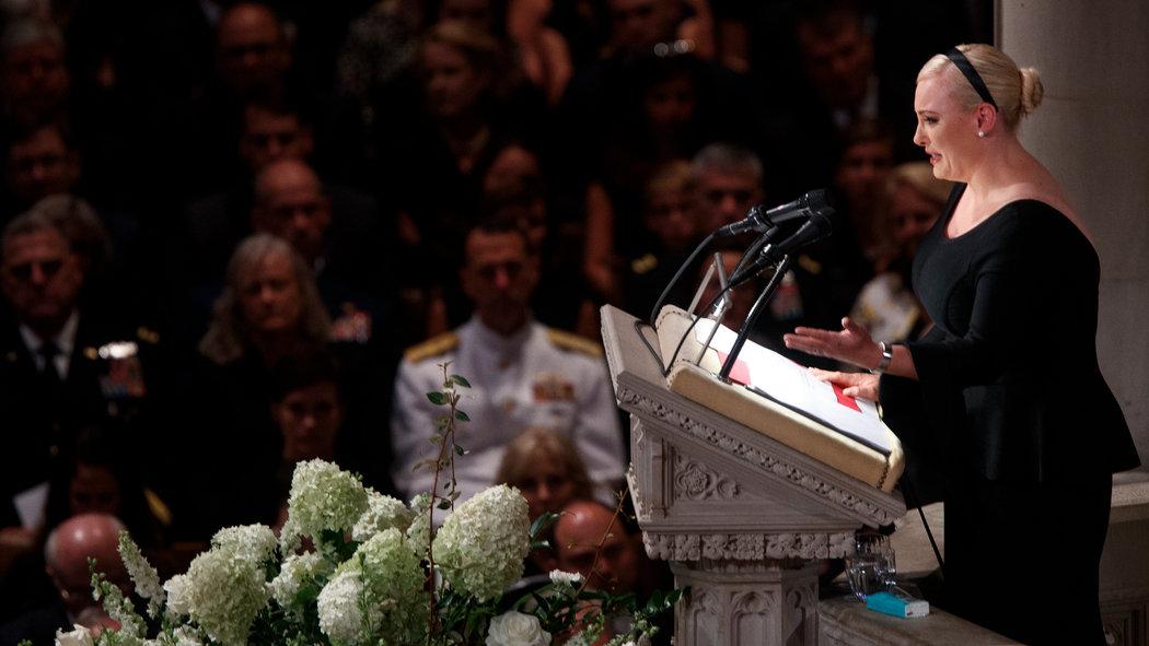 Wzruszająca przemowa Meghan McCain podczas pożegnania Johna McCaina. Był wojownikiem, pilotem, wojownikiem, mężem, wielkim człowiekiem