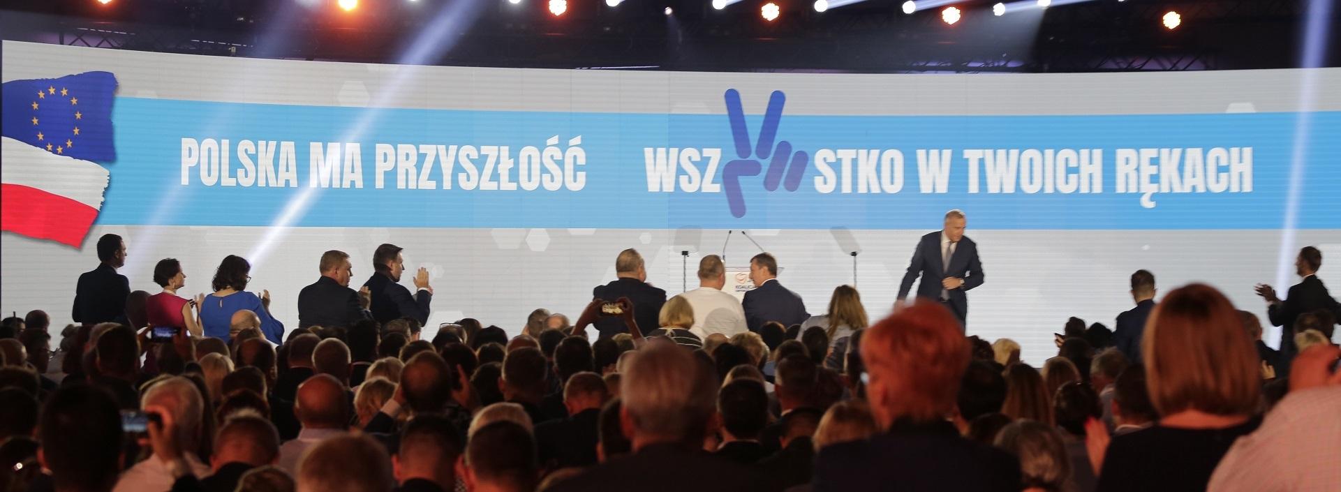 """Pod hasłem """" Polska ma przyszłość. Wszystko w twoich rękach"""" Koalicja Obywatelska rusza do wyborów"""