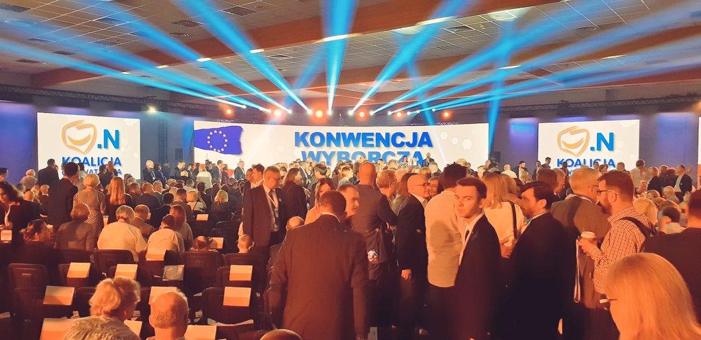 Kilkuset polityków PO i Nowoczesnej bierze udział w konwencji wyborczej Koalicji Obywatelskiej