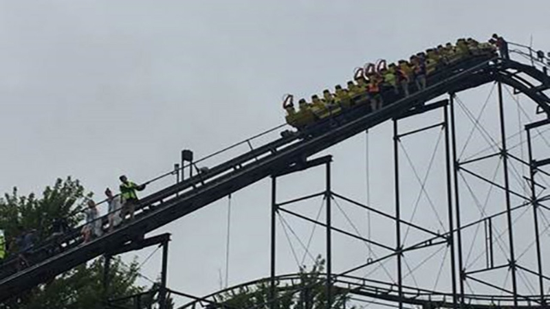 Awaria roller coastera w Gurnee