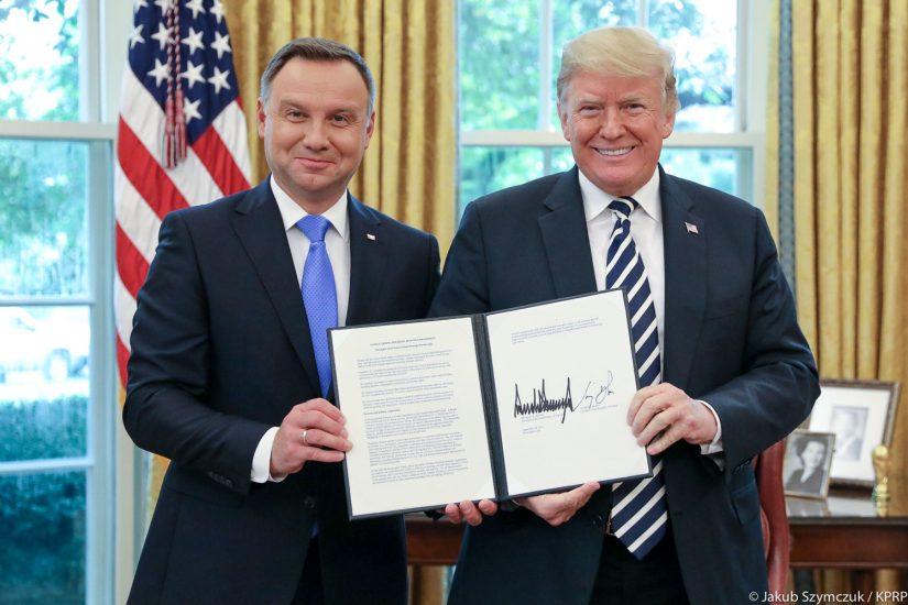 Trump-Duda: USA i Polska zwiększą współpracę w zakresie obronności oraz energetyki