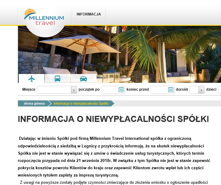Millennium Travel International z Legnicy niewypłacalne! Co z ponad 300 turystami wypoczywającymi w Grecji, Albanii i Bułgarii?