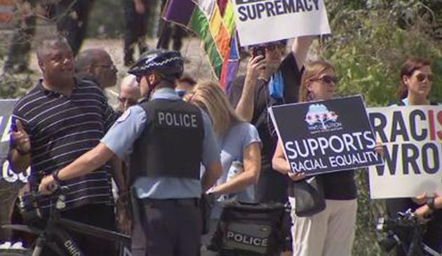 Protest w pobliżu O'Hare. Aresztowano kilka osób