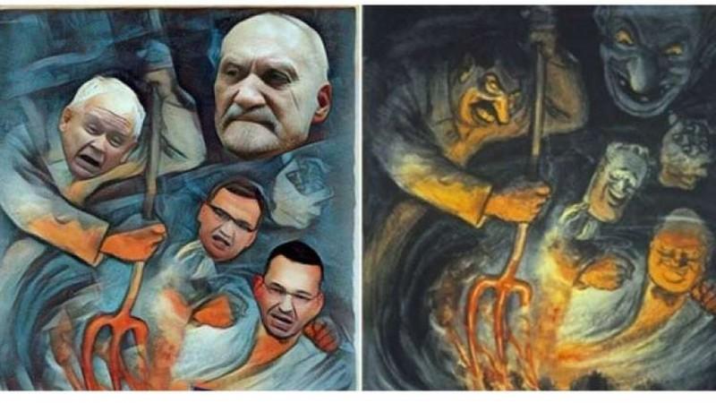 PiS krytykuje posła PO za publikację grafiki wzorowanej na hitlerowskim plakacie