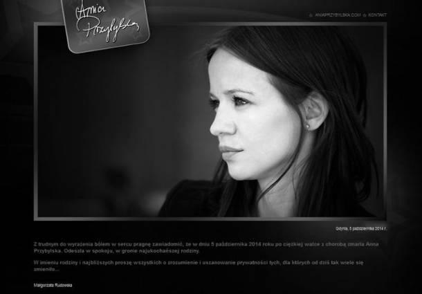 Czwarta rocznica śmierci Anny Przybylskiej. Aktorka zmarła 5 października 2014 r.
