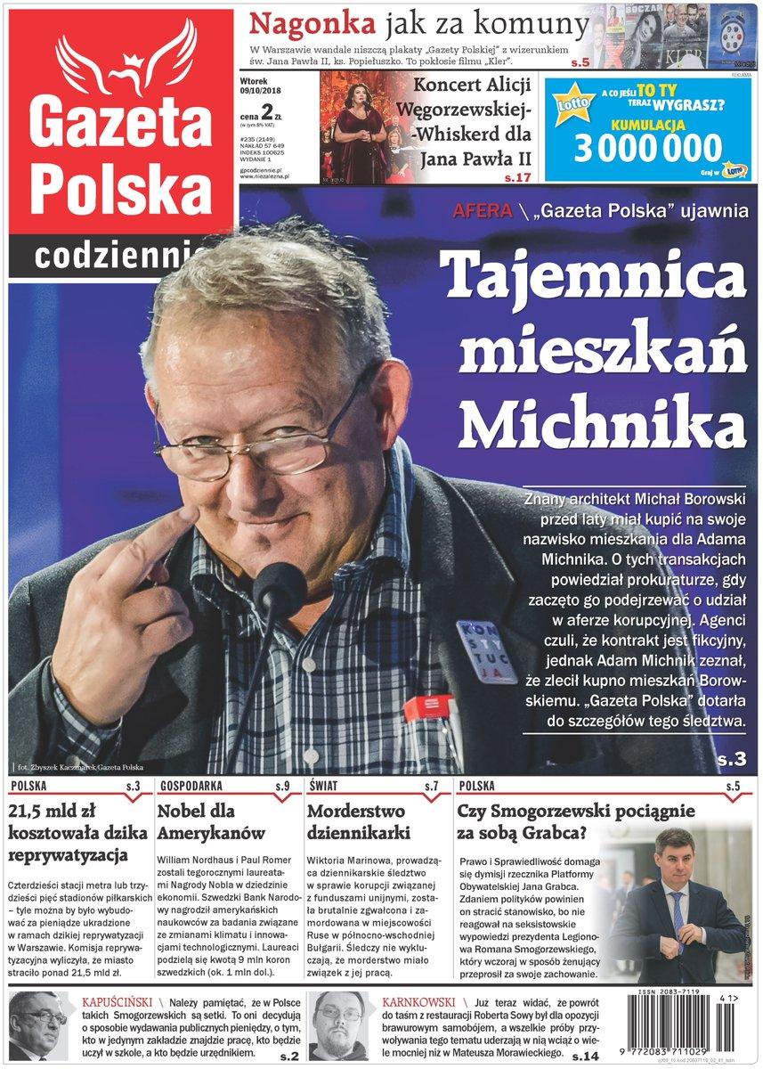 """""""Gazeta Polska"""" ujawnia tajemnicę mieszkań Adama Michnika"""