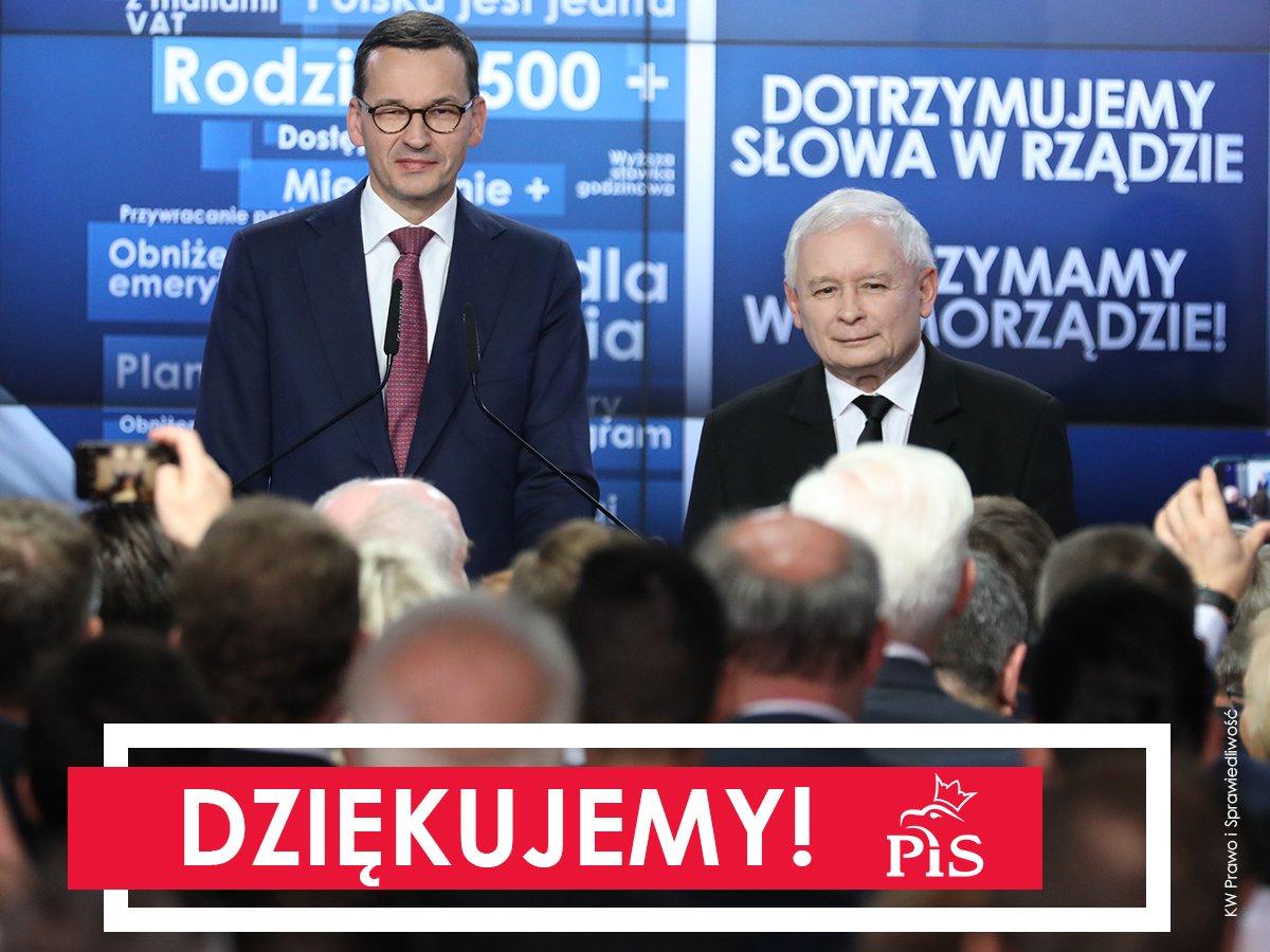 PiS cieszy się z wyników do Sejmików. Ani Kaczyński ani Morawiecki nie skomentowali porażki Jakiego w Warszawie