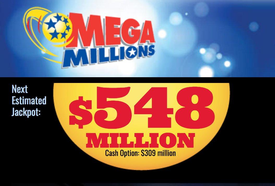 Kumulacja w Mega Millions wzrosła do 548 milionów dolarów!