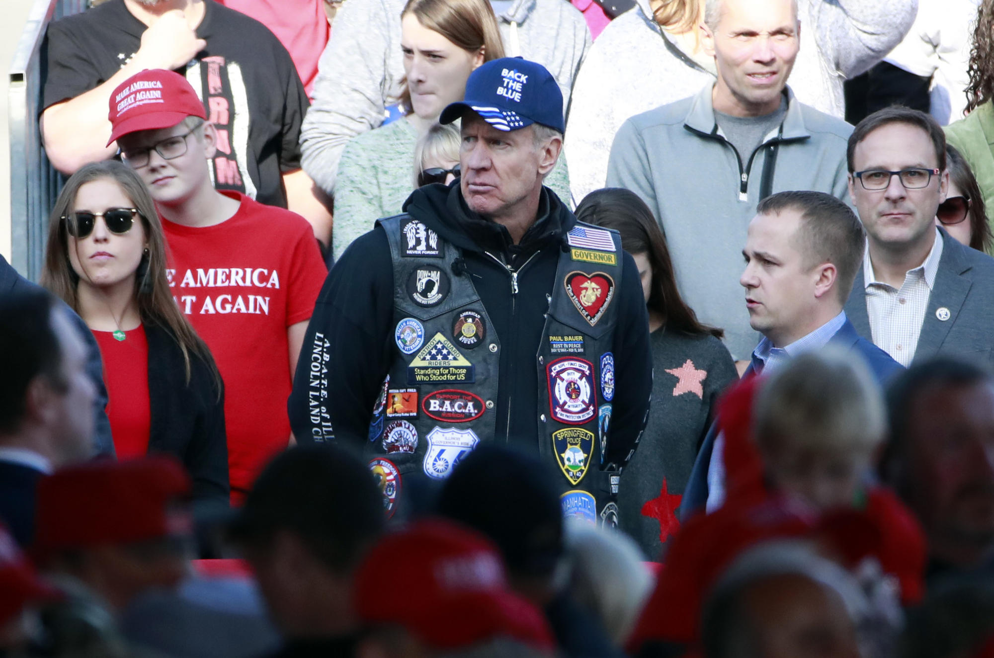 Donald Trump zignorował Bruca Raunera w Murphysboro