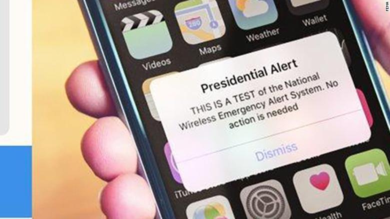 Testowanie awaryjnego systemu ostrzegania kryzysowego w USA