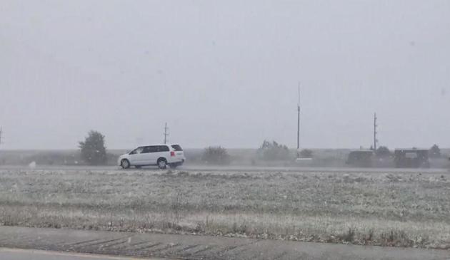 Pierwsze opady…śniegu w Illinois