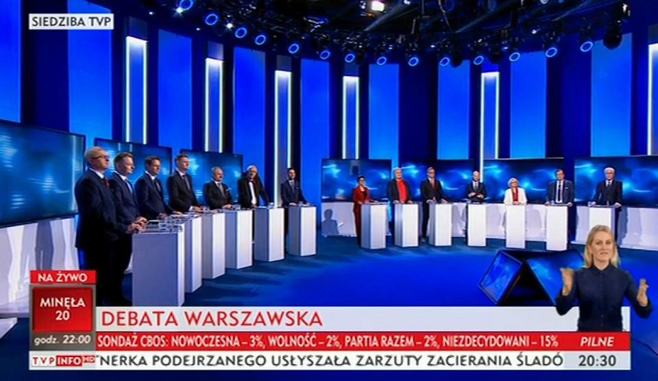 Kandydaci na prezydenta Warszawy zmierzyli się w telewizyjnej debacie [SZEROKA RELACJA]