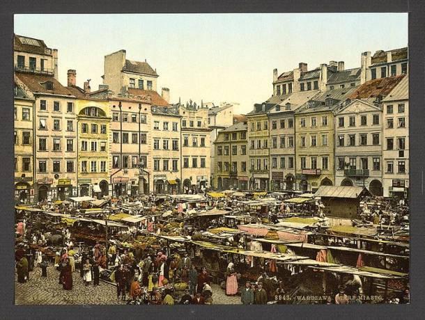 Kolorowa Warszawa z przełomu XIX i XX wieku. Nietypowe ujęcia stolicy znalazły się w Bibliotece Kongresu USA