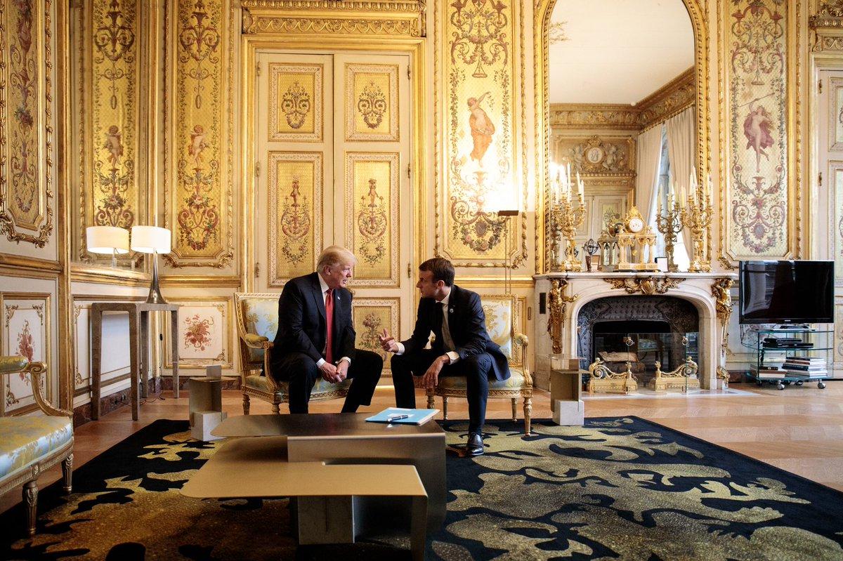 Francja – spotkanie D. Trumpa z E. Macronem