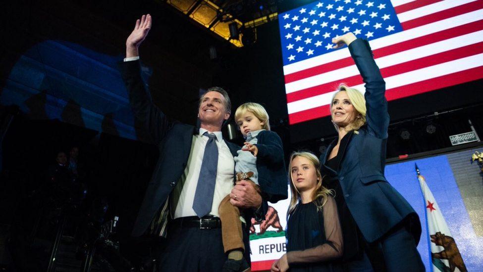 Gavin Newsom nowym gubernatorem Kalifornii