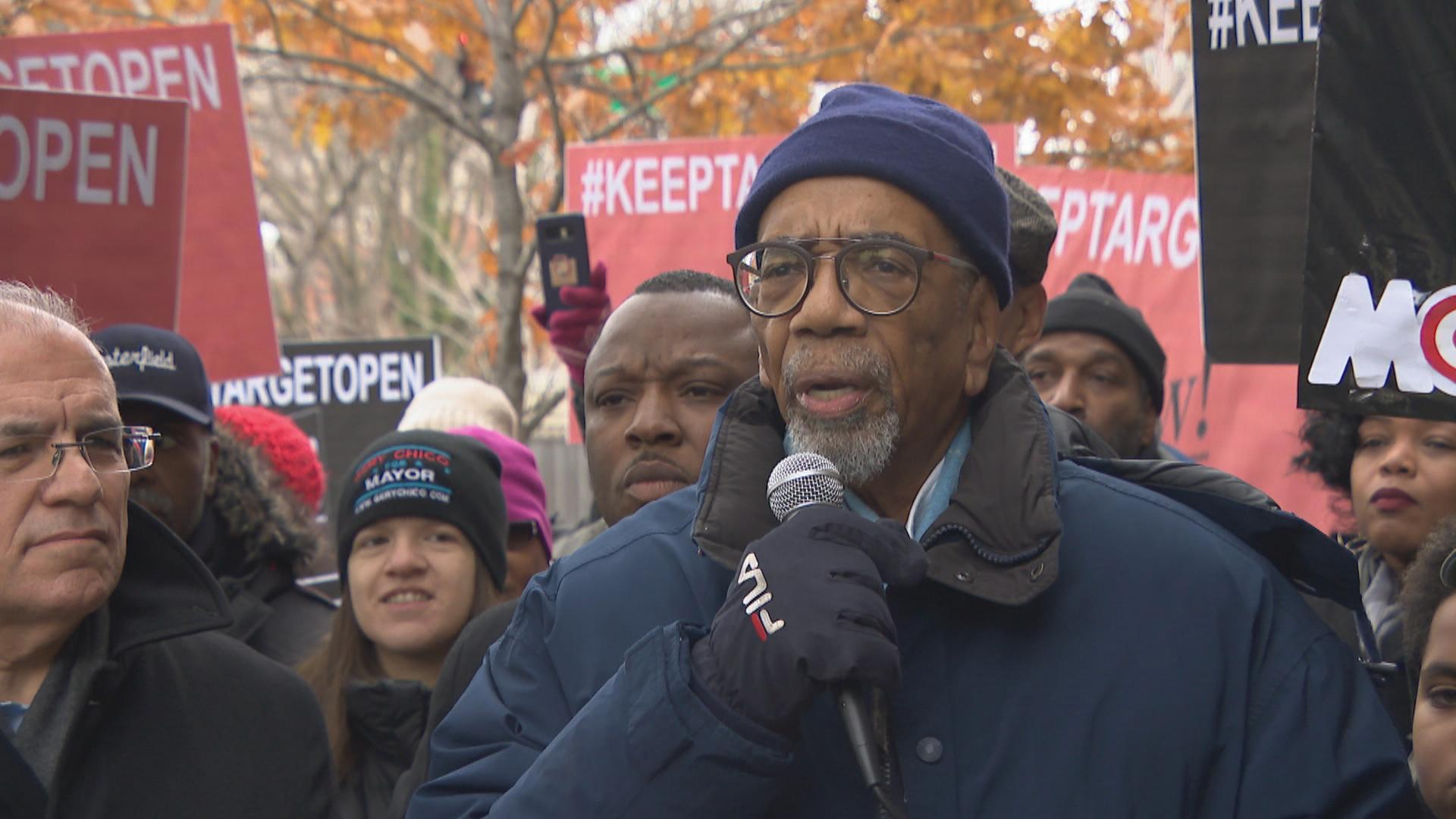 Protest w obronie sklepów Target w południowych dzielnicach Wietrznego Miasta