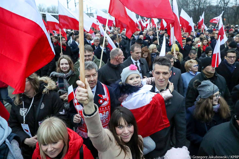 250 tysięcy osób na Wielkim Wspólnym Marszu Niepodległości
