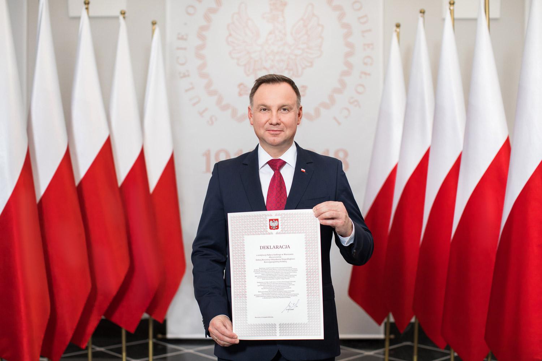Prezydent Andrzej Duda zainaugurował odbudowę Pałacu Saskiego