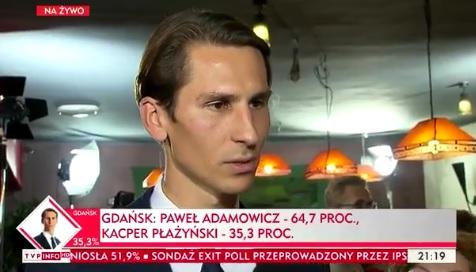 """PiS ze """"szklanym sufitem"""" w dużych miastach. Exit-poll: Kraków dla J.Majchrowskiego, Gdańsk dla P.Adamowicza"""