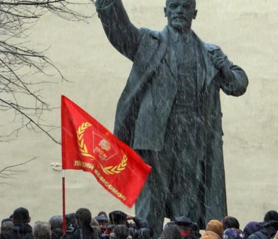 Rosyjscy komuniści świętują 101. rocznicę rewolucji