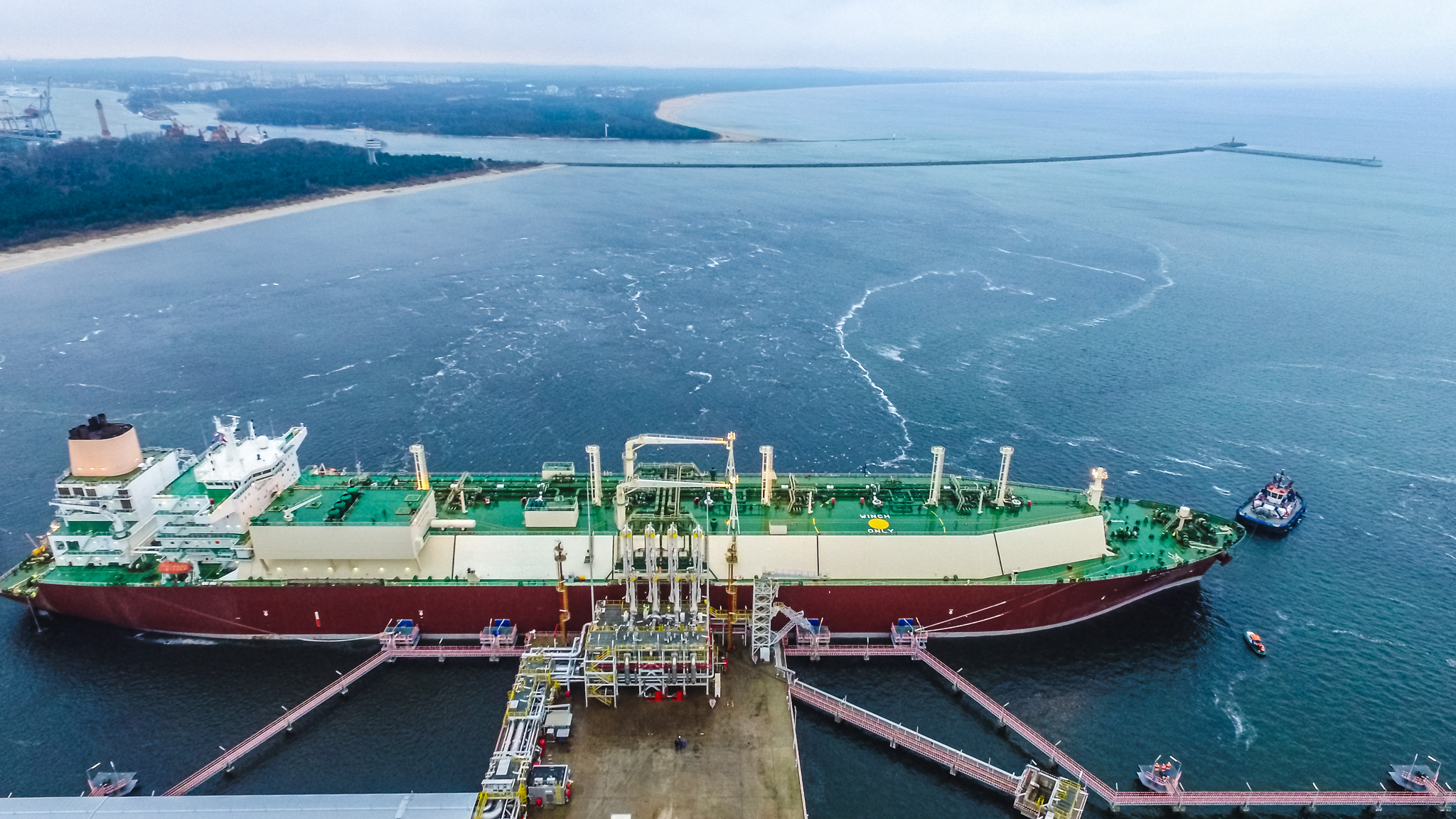 W gazoporcie w Świnoujściu rozpoczął się odbiór dostawy amerykańskiego gazu