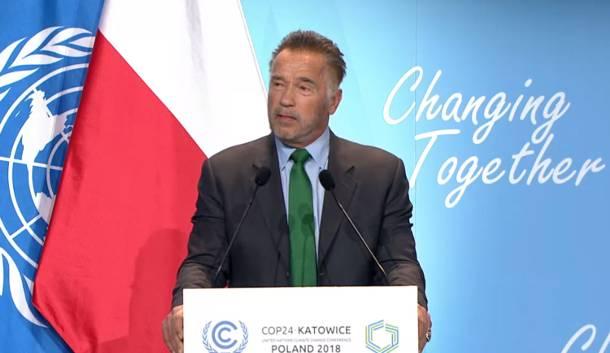Katowice: Arnold Schwarzenegger na szczycie klimatycznym COP24