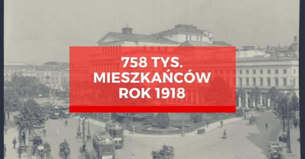 Ile osób mieszka w Warszawie? Jak liczba ludności w stolicy zmieniała się w ostatnich stu latach