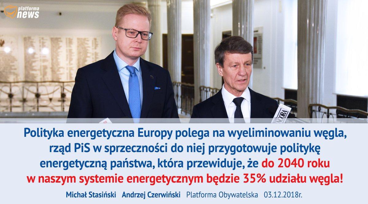 """PO krytykuje politykę energetyczną rządu. """"Europa stawia na czystą energię, PiS na węgiel"""""""