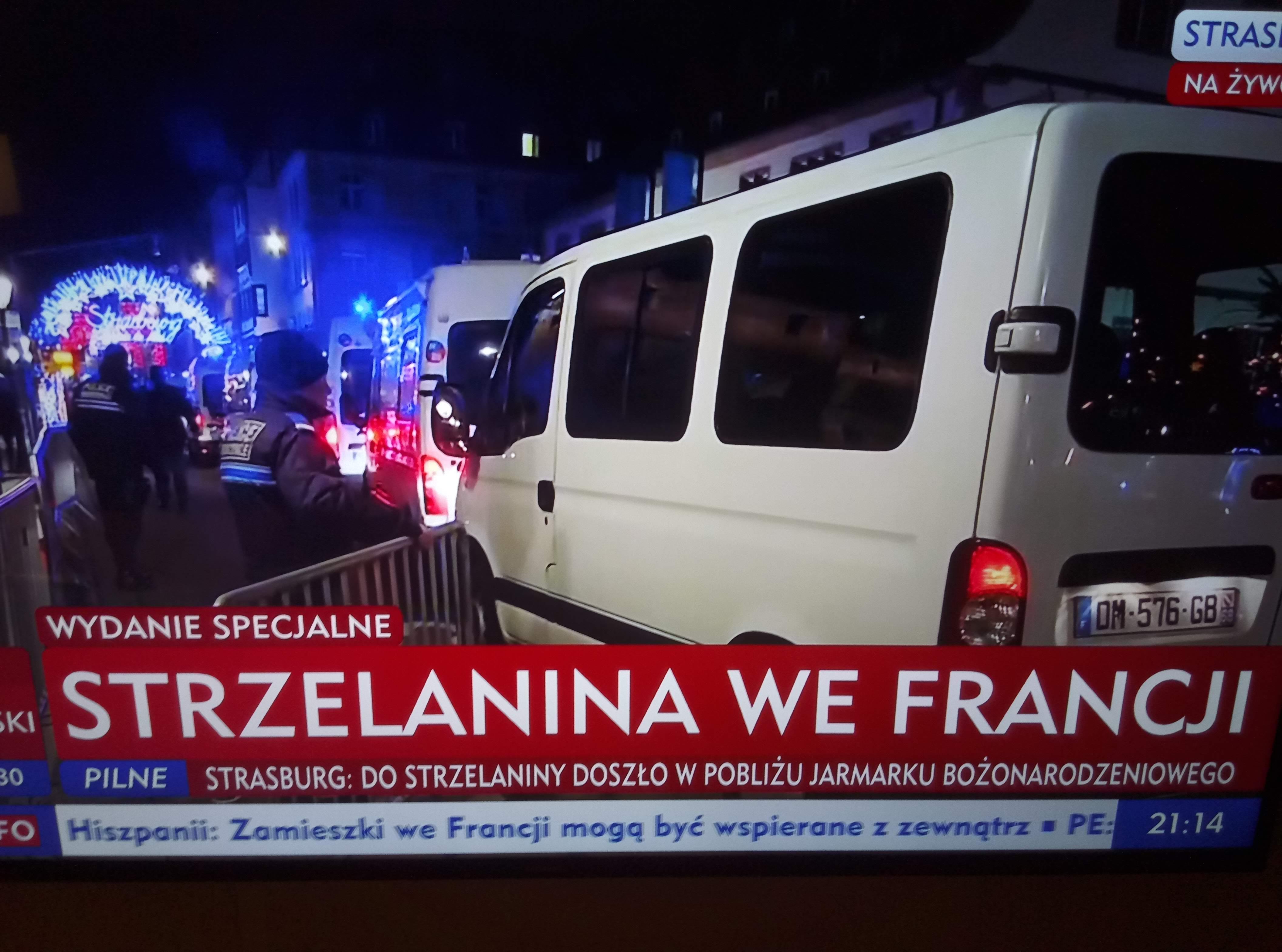 Francja: Strzelanina w centrum Strasburga. Budynek Parlamentu Europejskiego zamknięty i nie można z niego wychodzić