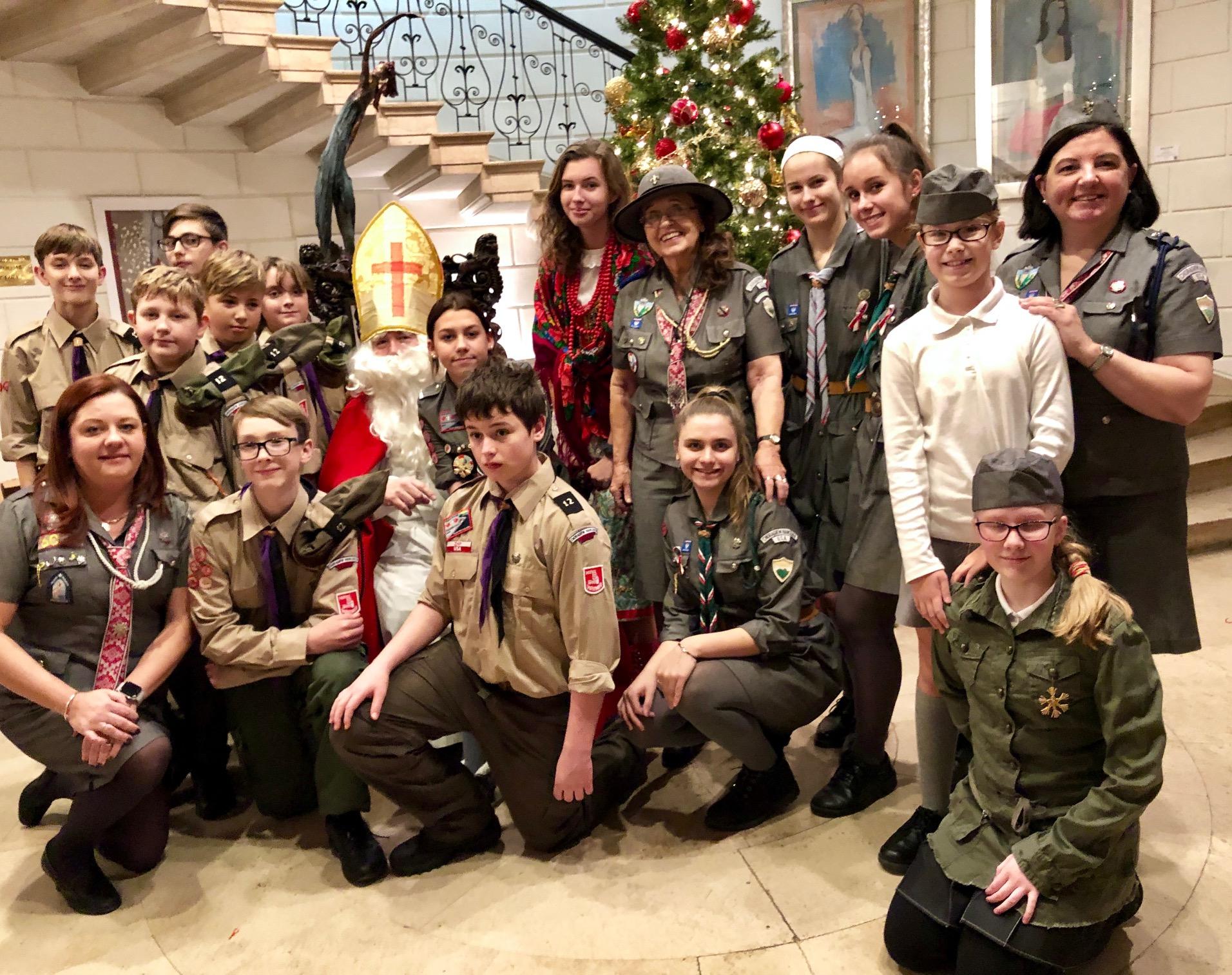 Wizyta Św. Mikołaja w Fundacji Kościuszkowskiej na Manhattanie
