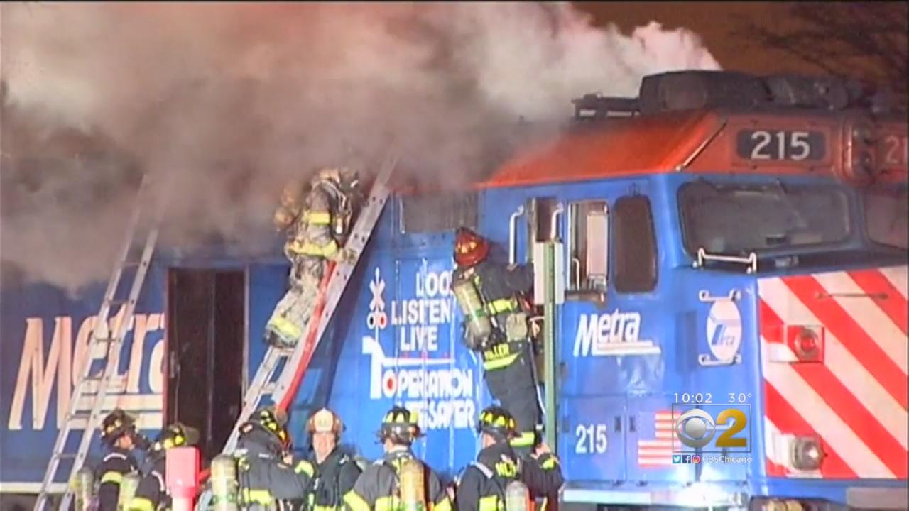 Pożar pociągu Metry