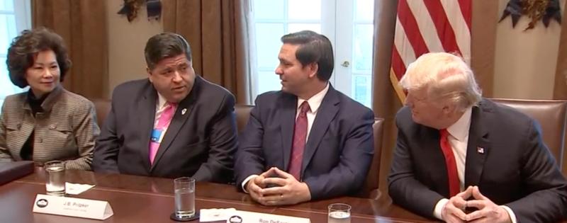 J.B. Pritzker na spotkaniu gubernatorów w Białym Domu