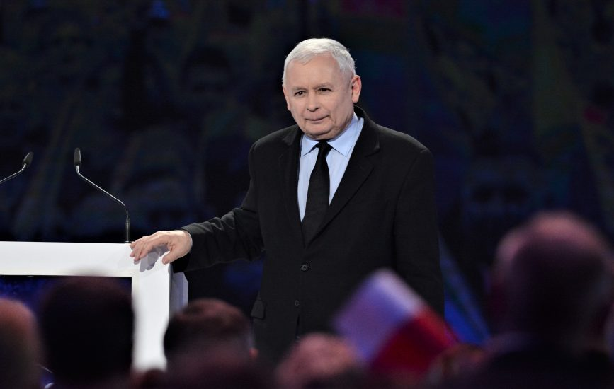Kaczyński w Białymstoku głosi zrównoważony rozwój dla całej Polski